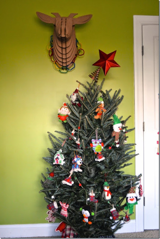 Kid's Christmas Tree with Plush Ornaments