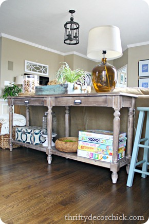 decorating a sofa table