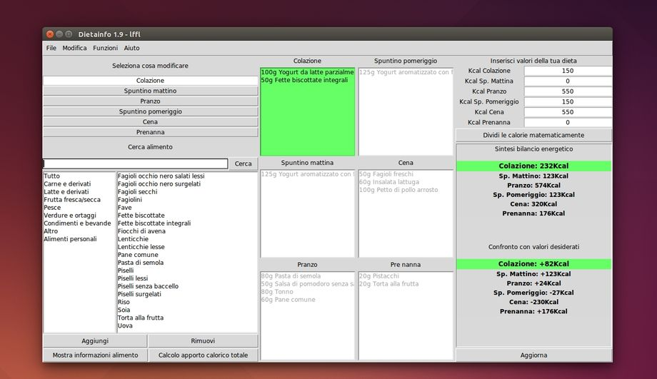 Dietainfo in Ubuntu