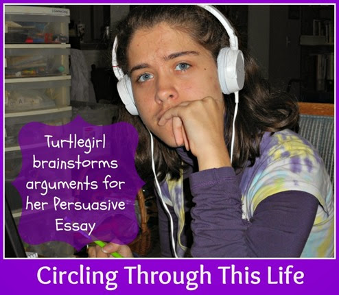 Students learn to brainstorm in one of the first lessons ~ Fortuigence Persuasive Essay Course Review at Circling Through This Life