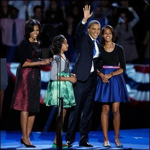 Barack Obama e familia