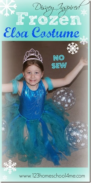 Disney Frozen Inspired No Sew Elsa Costume for Kids