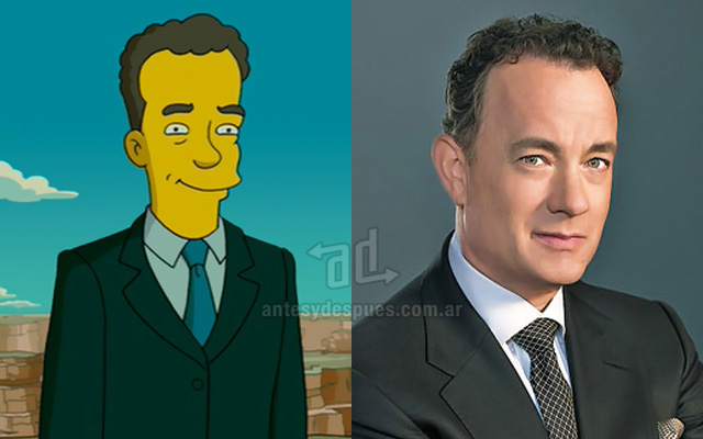 Foto de la version Simpson de Tom Hanks