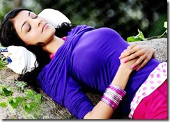 Kajal Agarwal sleeping photo