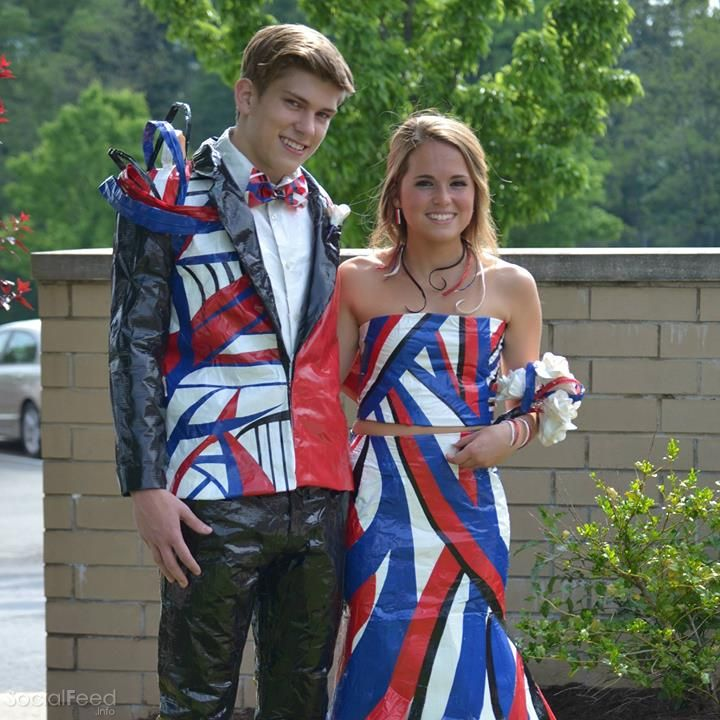 2017 duck tape stuck at prom contest