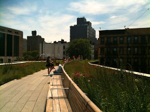 A pathway along the High Line.