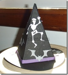 Skeleton & Bat Witch Hat