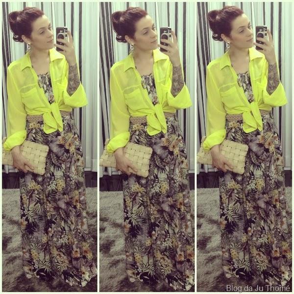 look vestido longo e camisa amarrada (2)