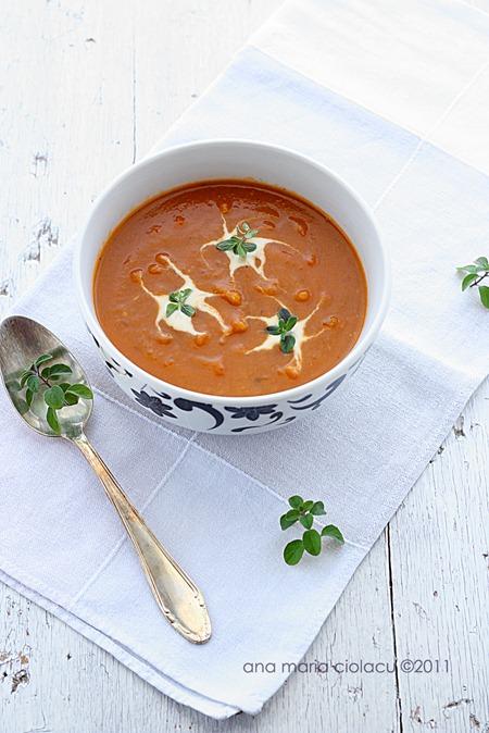 Supa crema de legume cu crutoane 2