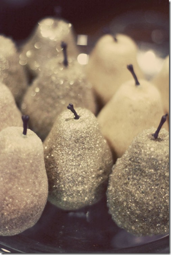 sparkly pears via pinterest
