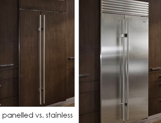 panelled vs stainless- SAH