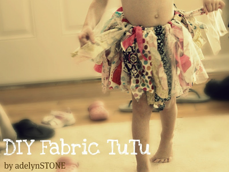 DIY fabric tutu