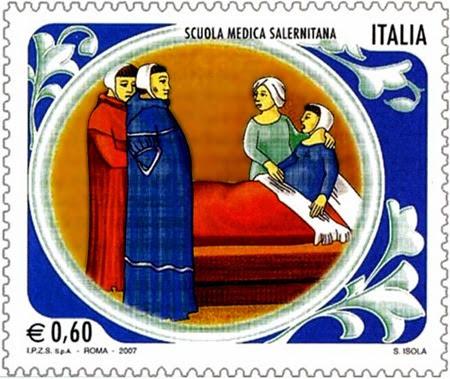 Costantino_Africano_Scuola_Medica_Salernitana_francobollo_2007