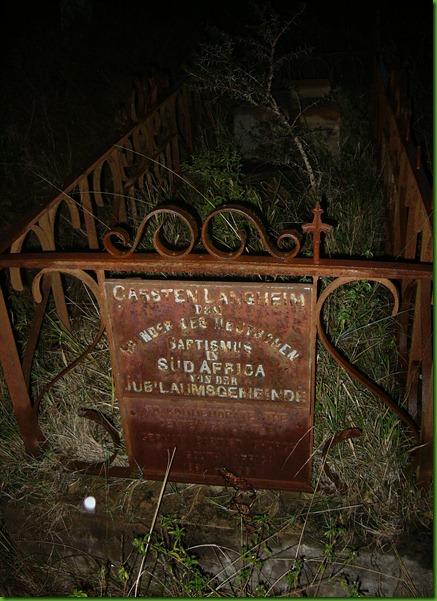 Carsten Langhein, Grave, Frankfort Eastern Cape