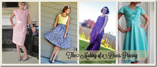 the making of a dress piecing