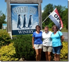 Tricia, Syl and Dot at Penguin Bay Winery