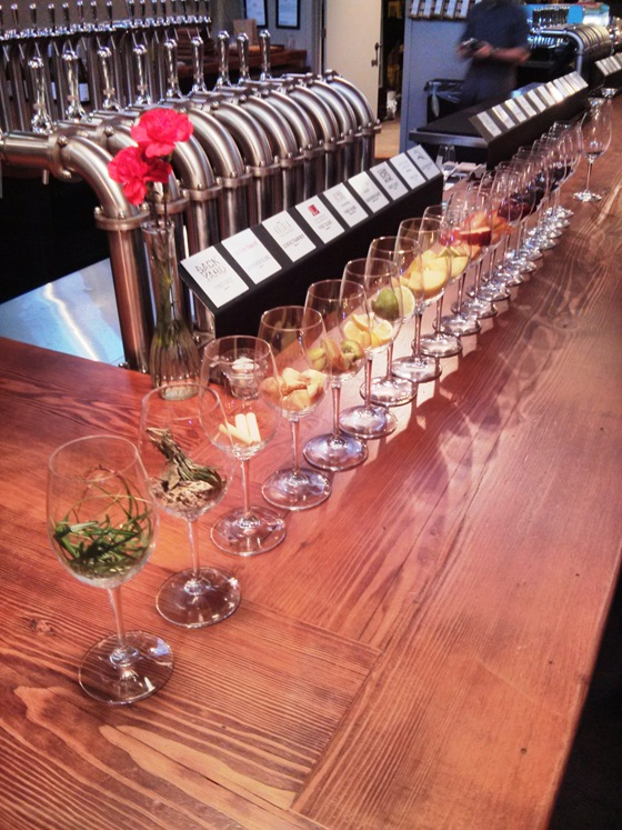 The aroma bar at Vancouver Urban Winery