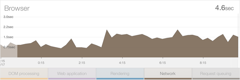 NewRelic network time report