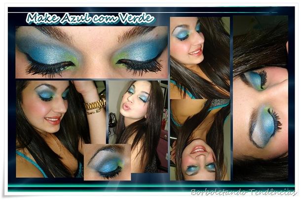 Make azul com verde