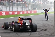 Vettel festeggia il quarto titolo consecutivo