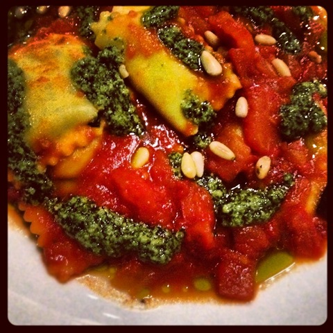 #275 - Zizzi spinach and ricotta ravioli