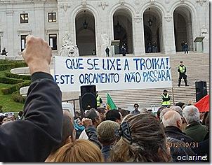 Na rua ate o governo ir embora. Nov 2012