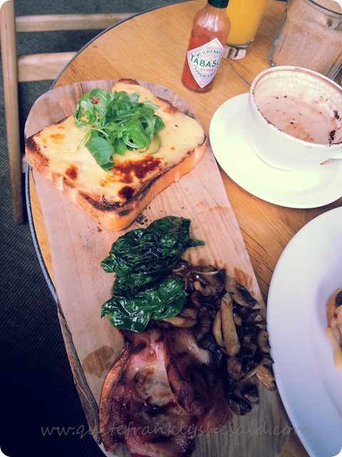 Hermitage Rd Bar Restaurant Sunday Brunch posh cheese on toast