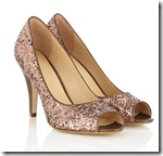 Gold Sequin Evening Shoes