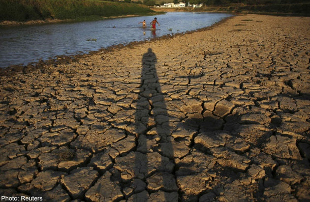 The worst drought in 80 years has left the Cantareira system, that provides greater São Paulo with most of its water, with the lowest water level on record, with daily rationing becoming common in the region's smaller cities, according to the state authorities. Photo: Reuters