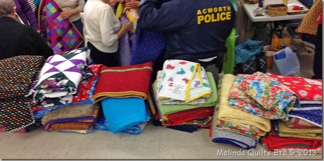 1213 quilts waiting for Police