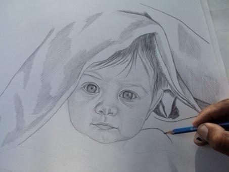 desenho de crianças a lápis 6