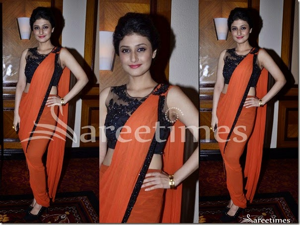 Orange_Plain_Saree
