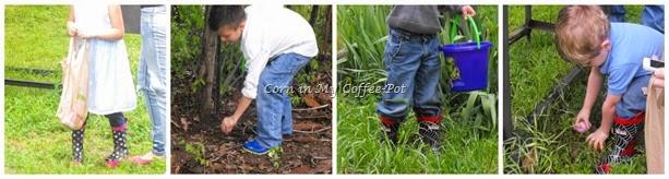 rain boots egg hunt