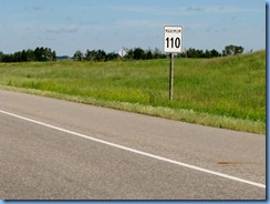 8424 Manitoba Trans-Canada Highway 1 - speed limit sign