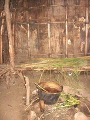 Plimoth Plant inside indian summer house
