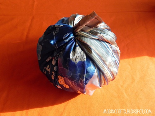 easy no sew fabric pumpkin