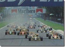 La partenza del gran premio del Messico 1990