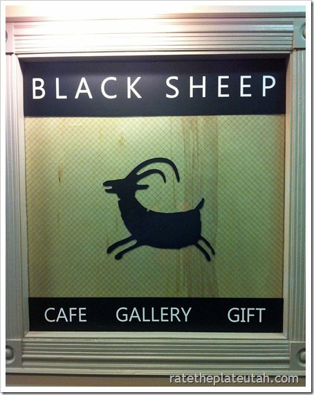 Black sheep Cafe Sign