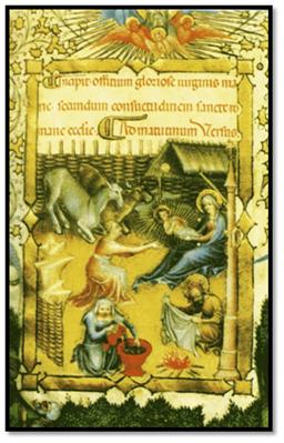 Natividad miniada de Belbello de Pavía, del siglo XV