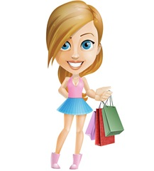 dibujo-mujer-chica-shopping-compras-3