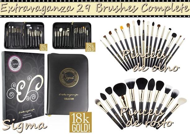 Extravaganza 29 Brushes Complete Kit 18k Gold