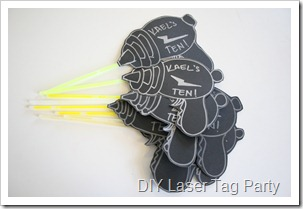 laser tag party invites