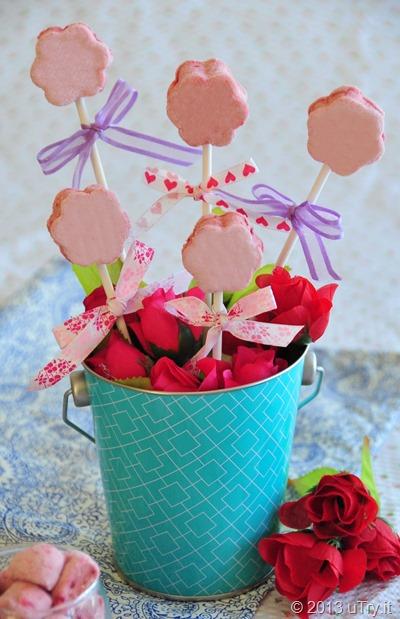 Boozy Framboise Guimauve Pops (Raspberry Marshmallow) http://utry.it
