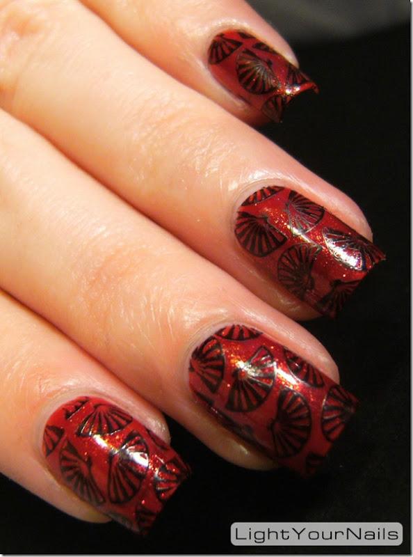 Jade Magma stamping nail art