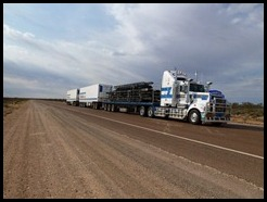 Australia, Road train on the Stuat Highway, 16 October 2012 (1)