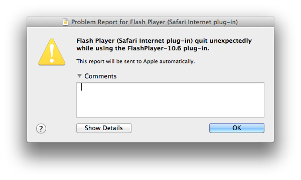 Adobe Flash Player Crash