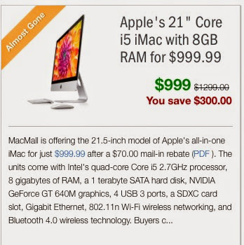 IMac deal at MacMall
