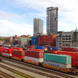 container trains in Vancouver in Vancouver, British Columbia, Canada