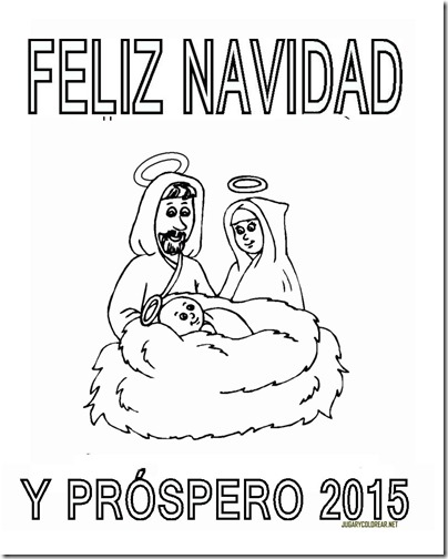 FELIZ NAVIDAD Y PROSPERO AÑO NUEVO 2015 3COLOREAR 1 2 2