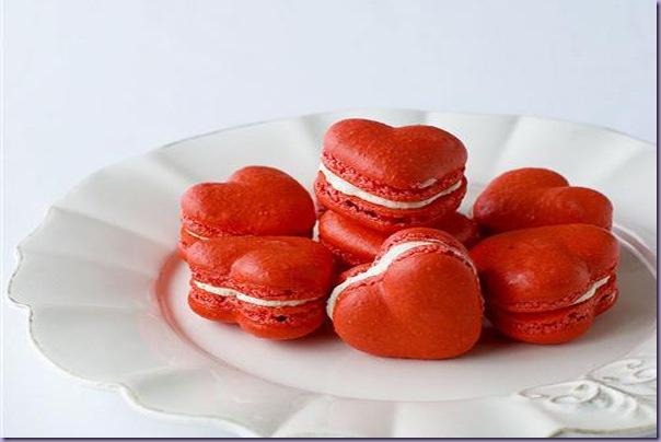 Macarons-Coração